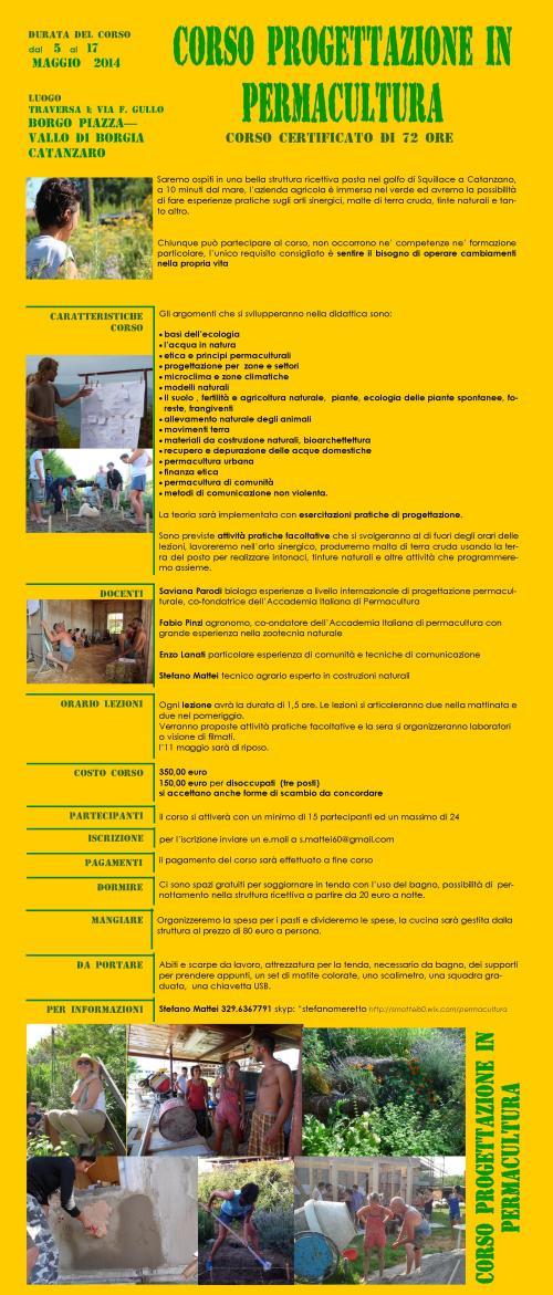 locandina corsi permacultura