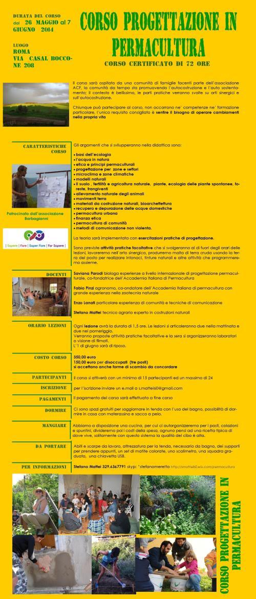 corso permacultura roma